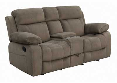 Image for Coffee Myleene Brown Reclining Loveseat