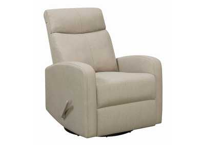 Beige Swivel Glider Recliner