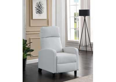 White Push Back Recliner