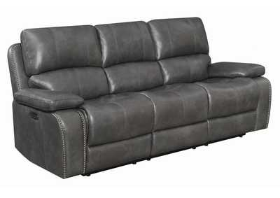Ravenna Charcoal Power Reclining Sofa w/Power Headrest