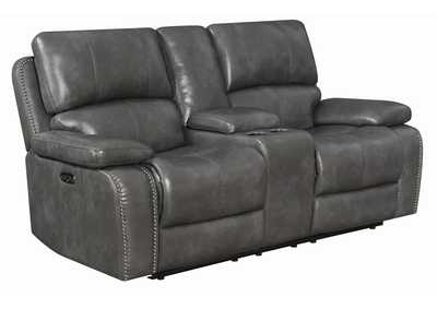 Ravenna Charcoal Power Reclining Loveseat w/Power Headrest