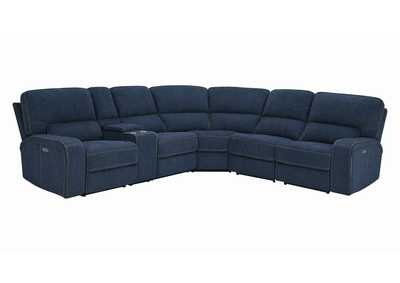 Dundee Navy Blue 6-Piece Power^2 Sectional