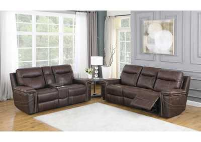 Wixom Brown Power Sofa & Loveseat