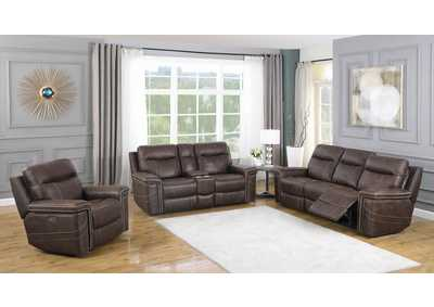 Wixom Brown Power Sofa, Recliner & Loveseat