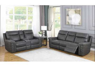 Wixom Charcoal Power Sofa & Loveseat