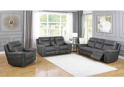 Wixom Charcoal Power Sofa, Recliner & Loveseat