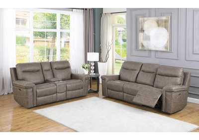 Wixom Taupe Power Sofa & Loveseat