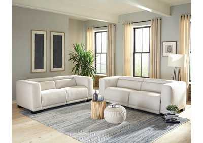 Maggie Beige Power Sofa & Loveseat