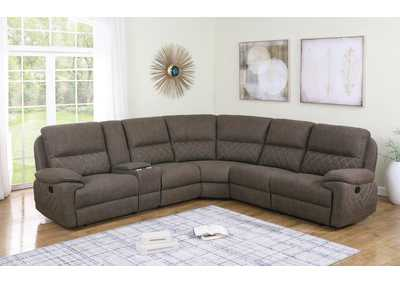 Variel Brown 6 Pieces Motion Sectional