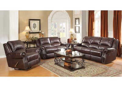 Sir Rawlinson Tobacco Reclining Sofa