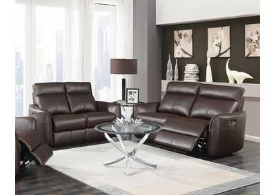 Dark Brown Power Reclining Sofa