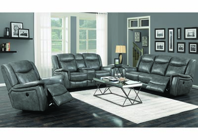 Conrad Grey Power Reclining Sofa