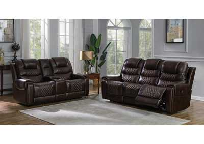 North Dark Brown Power Sofa & Loveseat