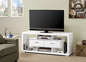 White TV Console,Coaster Furniture