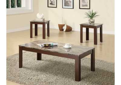 Brown Occasional Cocktail and End Table Set