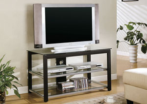 Image for Tea Contemporary Black and Silver TV Console