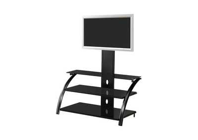 Mine Shaft Contemporary Black TV Console