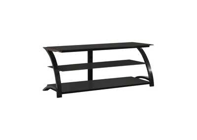 Mine Shaft Contemporary Black Metal TV Console