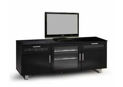 Black Contemporary Black Enclosed TV Console