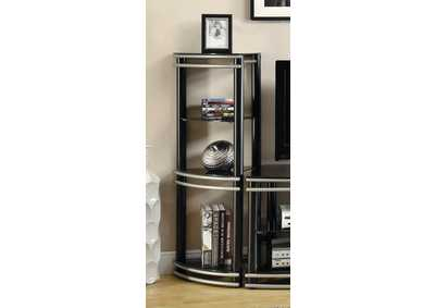 Image for Cod Gray Contemporary Black and Silver Media Tower