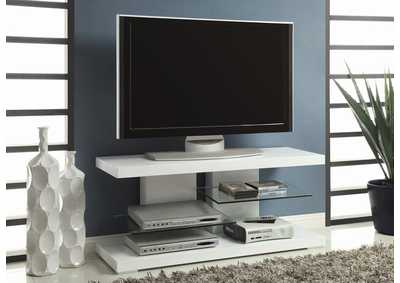 Glossy White TV Console