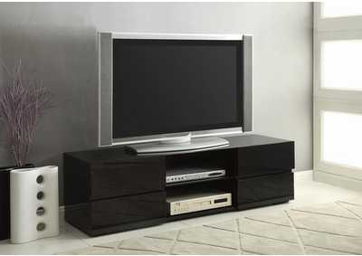 Glossy Black TV Console