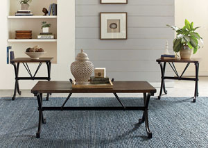 Brown 3piece Table Set