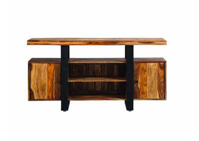 Natural/Black Tv Stand