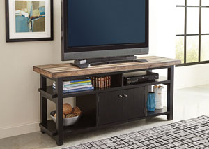 Rustic Brown/ Black Tv Console