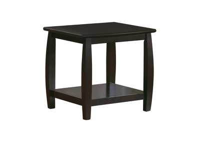 Image for Cappuccino Wood Top Espresso End Table