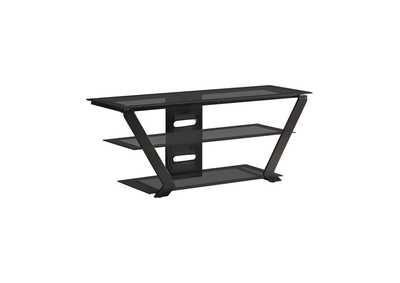 Image for Mine Shaft Contemporary Black TV Console