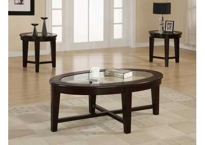 Cappuccino Three-Piece Occasional Table Set