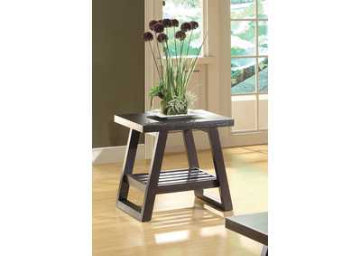 Rich Brown End Table