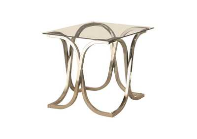Image for White Rock Contemporary Nickel End Table