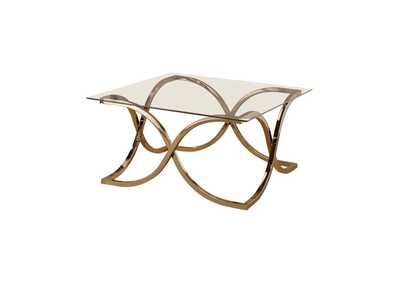 Image for Pearl Bush Contemporary Nickel Coffee Table