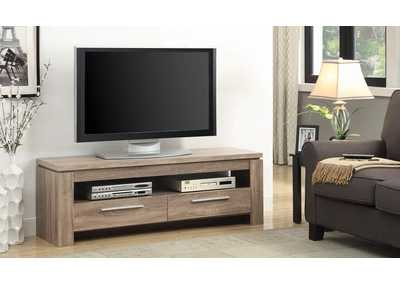 Distressed Brown TV Console