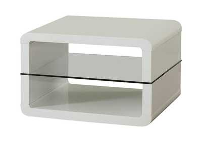 Image for White Modern White End Table