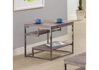 Dark Grey End Table