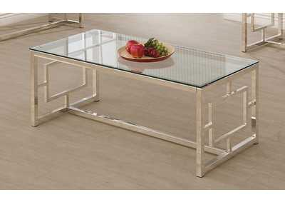 Satin Plated Coffee Table