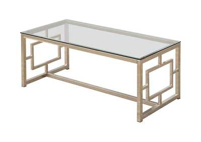 Image for Alto Occasional Contemporary Nickel Coffee Table