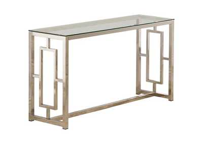 Image for Celeste Occasional Contemporary Nickel Sofa Table