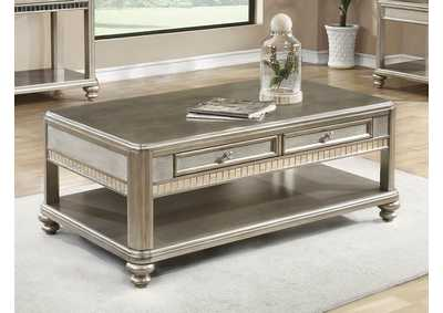 Metallic Platinum Coffee Table