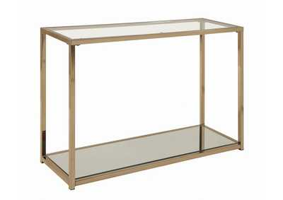 Image for Chocolate Chrome Calantha Modern Chocolate Chrome Sofa Table