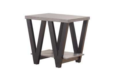 Image for Black / Grey Mid-Century Modern Black Side Table