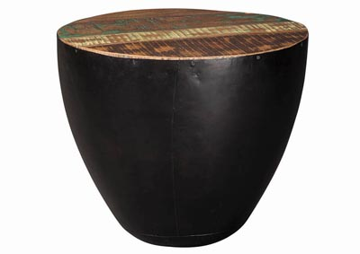 Black/Brown End Table