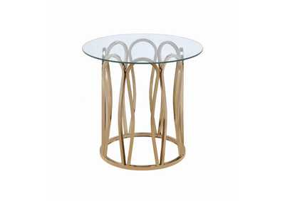 Image for Chrome Round Glass Top End Table