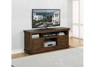 Coaster Essence Antique Brown 60-Inch 2-Door Tv Console