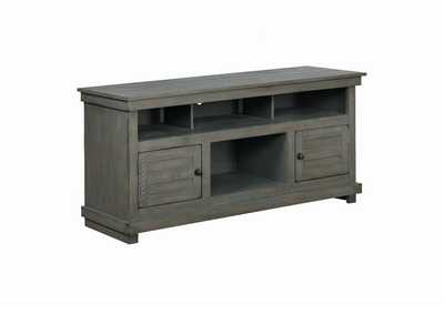 Antique Grey TV Console