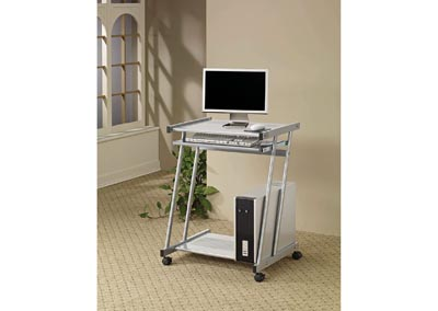 Image for Hillary Contemporary Silver Computer Desk