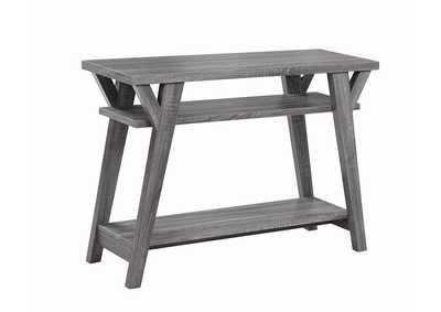 Distressed Grey Sofa Table